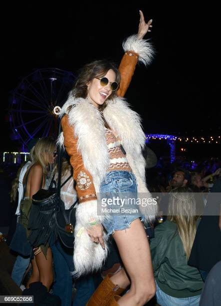 Model Alessandra Ambrosio attends The Levi's Brand Presents NEON CARNIVAL with Tequila Don Julio on April 15 2017 in Thermal California