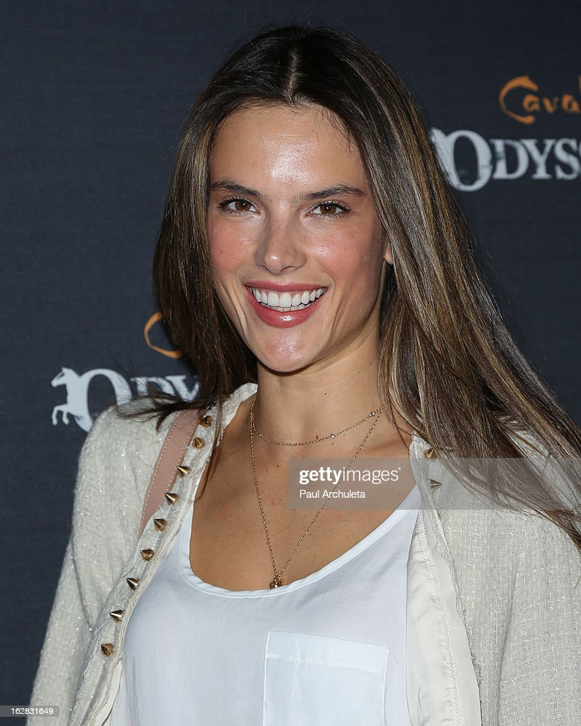 Model <a gi-track='captionPersonalityLinkClicked' href=/galleries/search?phrase=Alessandra+Ambrosio&family=editorial&specificpeople=203062 ng-click='$event.stopPropagation()'>Alessandra Ambrosio</a> attends the opening night for Cavalia's 'Odysseo' at the Cavalia's Odysseo Village on February 27, 2013 in Burbank, California.