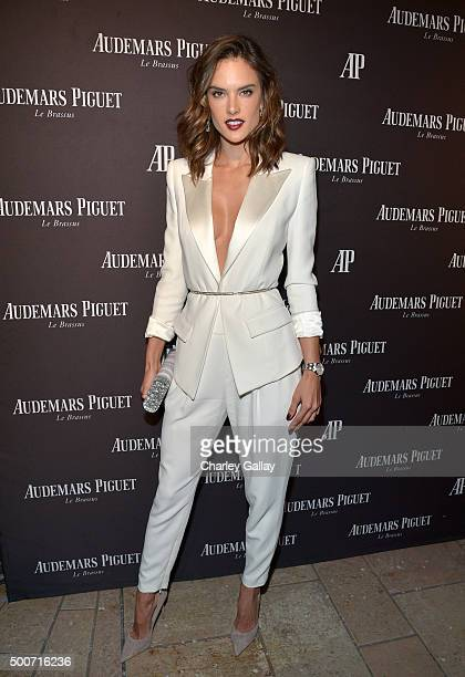 Model Alessandra Ambrosio attends the Opening of Audemars Piguet Rodeo Drive at Audemars Piguet on December 9 2015 in Beverly Hills California