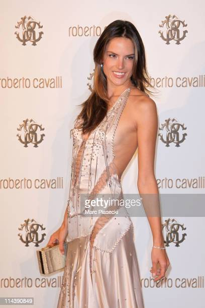 Model Alessandra Ambrosio attends the private dinner on 'Cavalli' yacht photocall on May 18 2011 in Cannes France