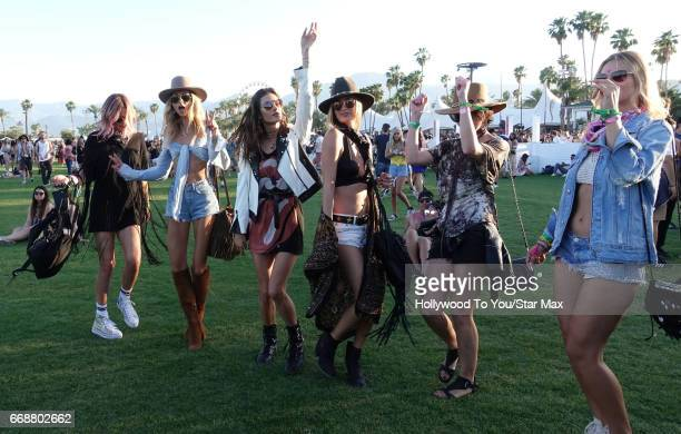 Model Alessandra Ambrosio is seen at Coachella on April 14 2017 in Indio CA