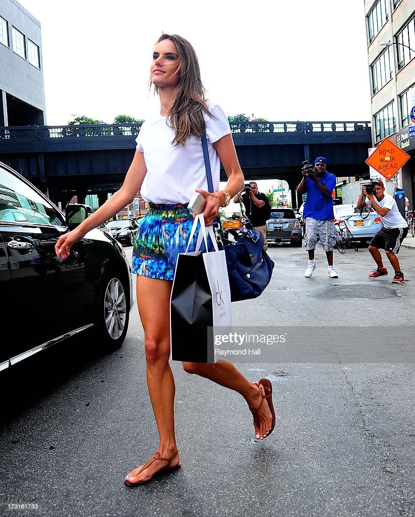 Model <a gi-track='captionPersonalityLinkClicked' href=/galleries/search?phrase=Alessandra+Ambrosio&family=editorial&specificpeople=203062 ng-click='$event.stopPropagation()'>Alessandra Ambrosio</a> is seen in the Meat Packing District on July 8, 2013 in New York City.