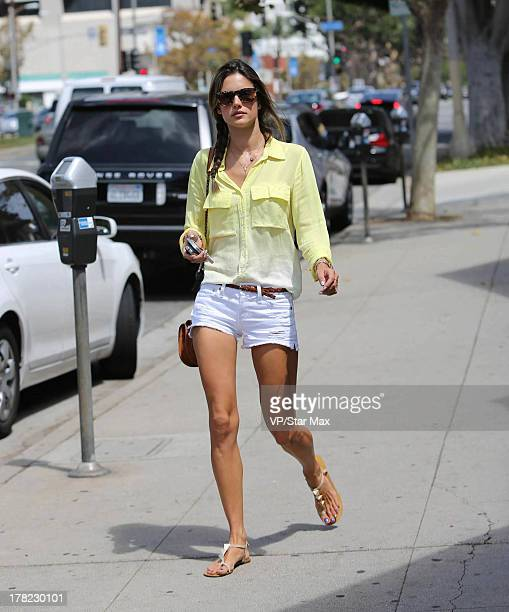 Model Alessandra Ambrosio is seen on August 27 2013 in Los Angeles California
