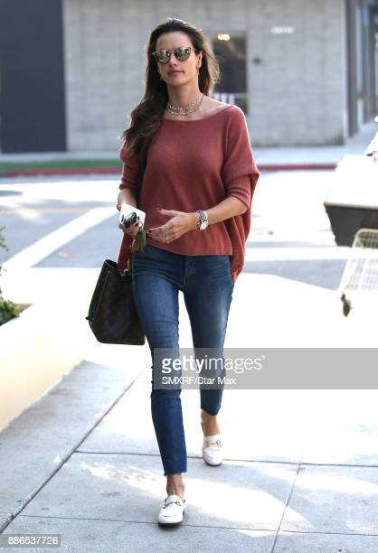 Model Alessandra Ambrosio is seen on December 5 2017 in Los Angeles CA