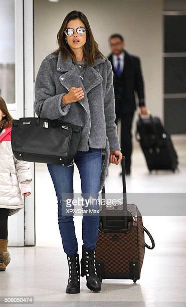 Model Alessandra Ambrosio is seen on January 20 2016 in New York City
