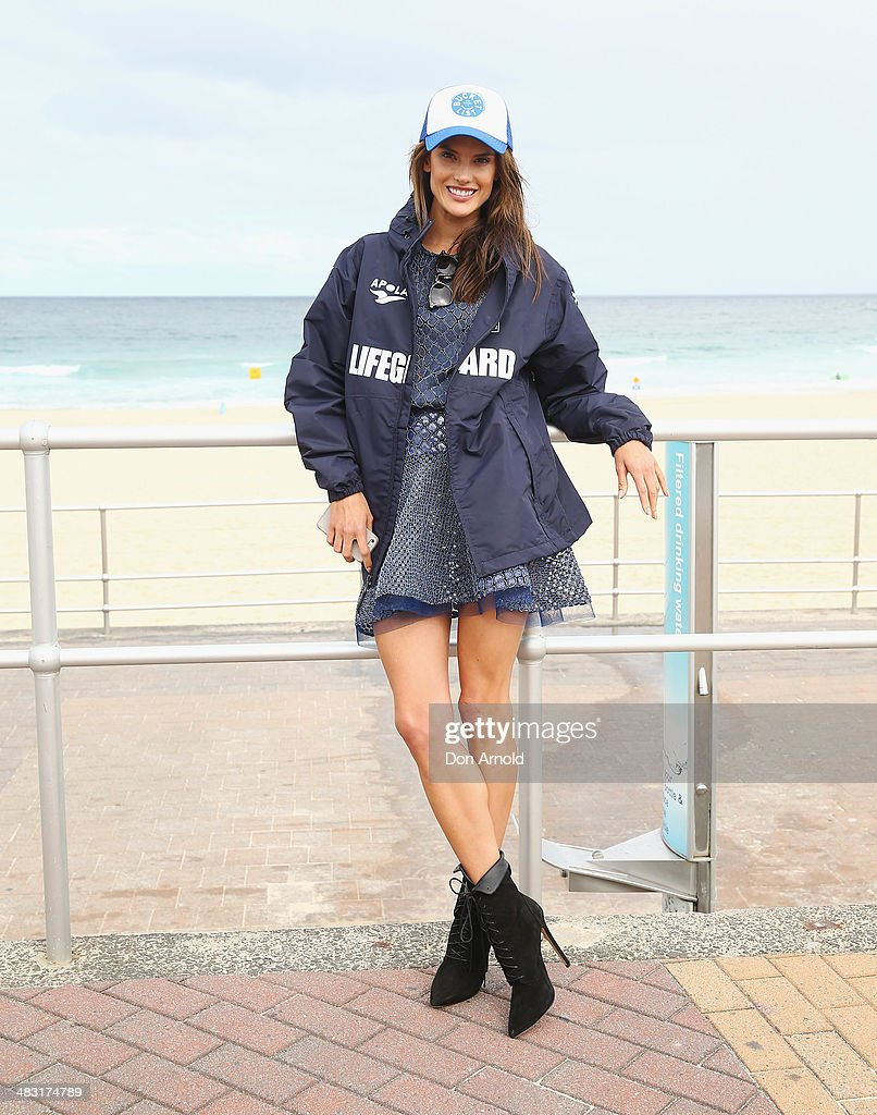 Model <a gi-track='captionPersonalityLinkClicked' href=/galleries/search?phrase=Alessandra+Ambrosio&family=editorial&specificpeople=203062 ng-click='$event.stopPropagation()'>Alessandra Ambrosio</a> poses on Bondi Beach on April 7, 2014 in Sydney, Australia. <a gi-track='captionPersonalityLinkClicked' href=/galleries/search?phrase=Alessandra+Ambrosio&family=editorial&specificpeople=203062 ng-click='$event.stopPropagation()'>Alessandra Ambrosio</a> walked during the Alex Perry runway at Mercedes-Benz Fashion Week Australia