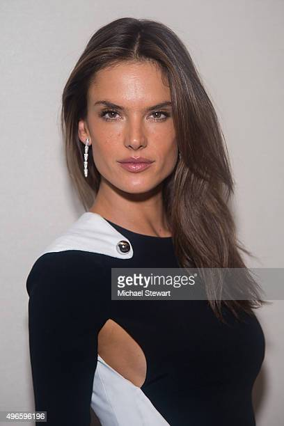 Model Alessandra Ambrosio prepares for the Victoria's Secret Fashion Show after parties on November 10 2015 in New York City