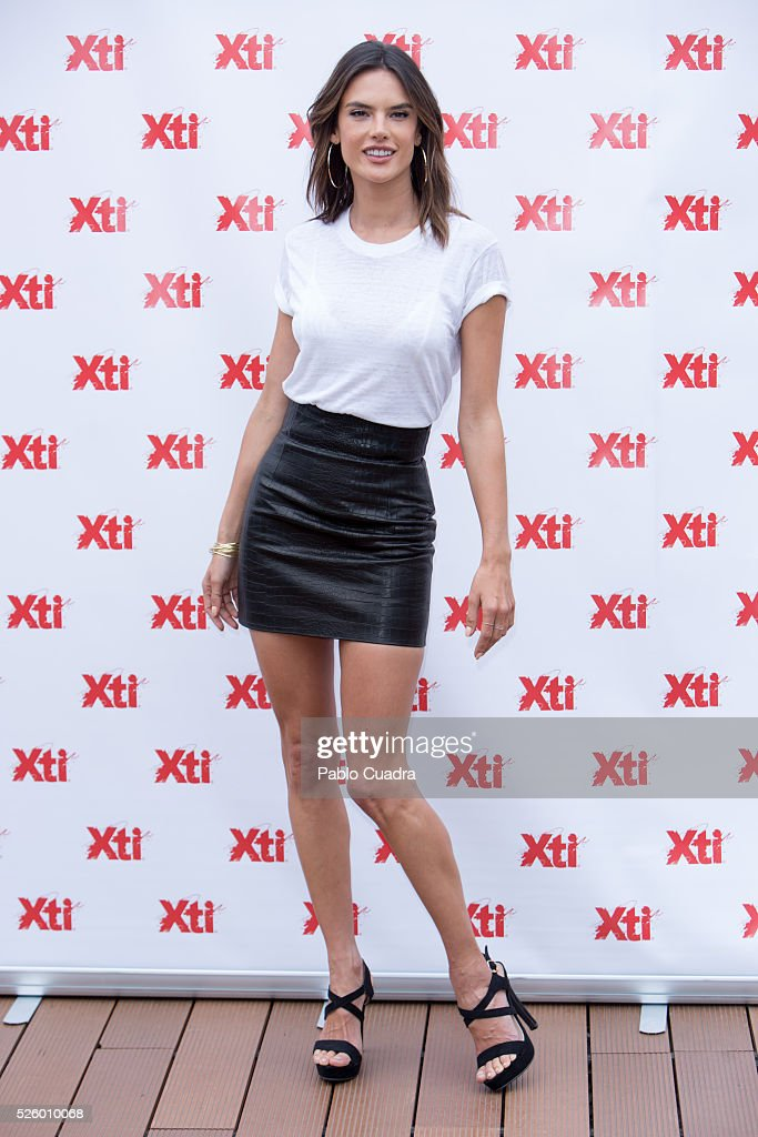 Model Alessandra Ambrosio presents the 'Xti' new collection at ME Hotel on April 29, 2016 in Madrid, .