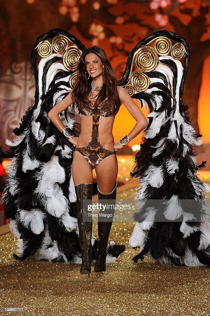 Model <a gi-track='captionPersonalityLinkClicked' href=/galleries/search?phrase=Alessandra+Ambrosio&family=editorial&specificpeople=203062 ng-click='$event.stopPropagation()'>Alessandra Ambrosio</a> walks the runway during the 2010 Victoria's Secret Fashion Show at the Lexington Avenue Armory on November 10, 2010 in New York City.
