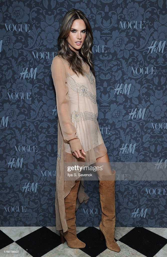 Model <a gi-track='captionPersonalityLinkClicked' href=/galleries/search?phrase=Alessandra+Ambrosio&family=editorial&specificpeople=203062 ng-click='$event.stopPropagation()'>Alessandra Ambrosio</a> wearing H&M attends H&M & Vogue Studios Celebrate 'Between The Shows' on September 6, 2013 in New York City.