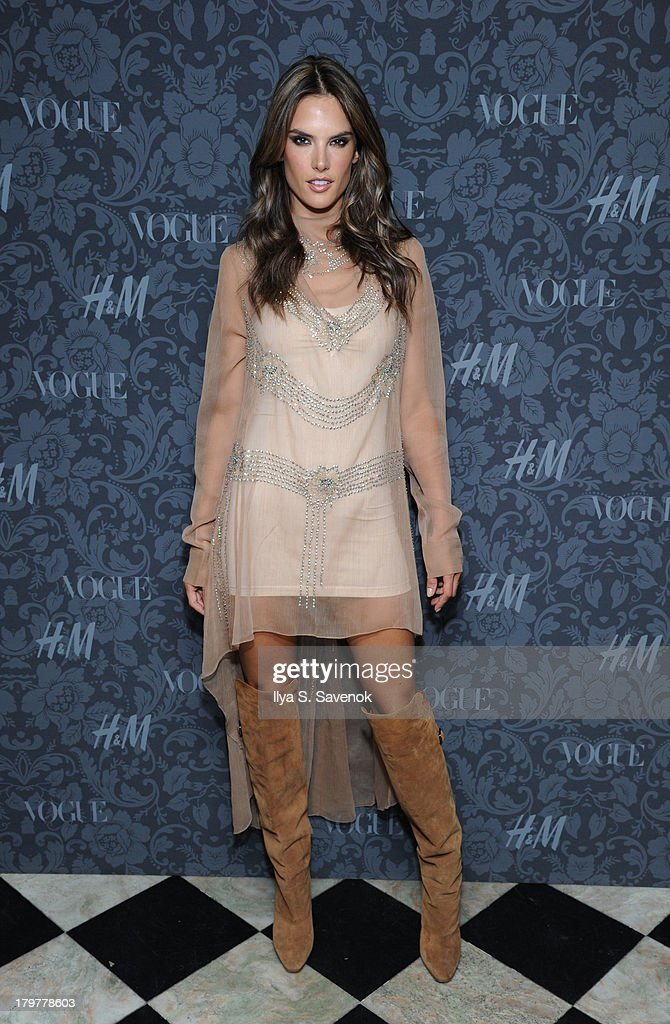 Model Alessandra Ambrosio wearing H&M attends H&M & Vogue Studios Celebrate 'Between The Shows' on September 6, 2013 in New York City.
