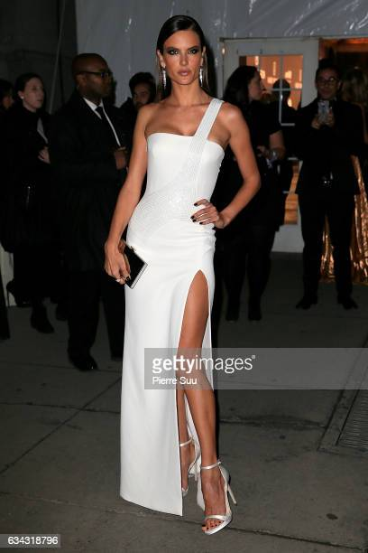 Model Alessandra Ambrosiol attends the 19th annual amfAR's New York Gala to kick off NY Fashion Week at Cipriani Wall Street on February 8 2017 in...