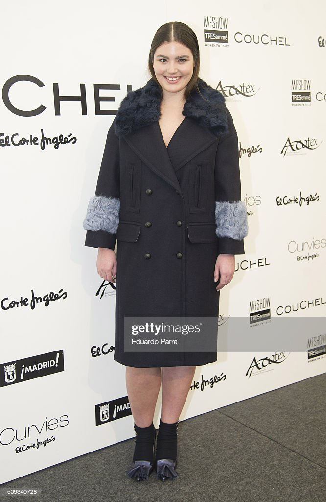 Model Alessandra Garcia attends Couchel fashion show photocall at Colon Square on February 10, 2016 in Madrid, Spain.