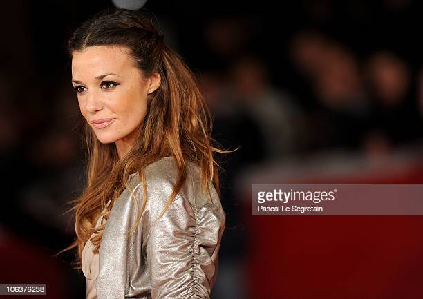 Model Alessia Fabiani attends the 'We Want Sex' premiere during The 5th International Rome Film Festival at Auditorium Parco Della Musica on October...