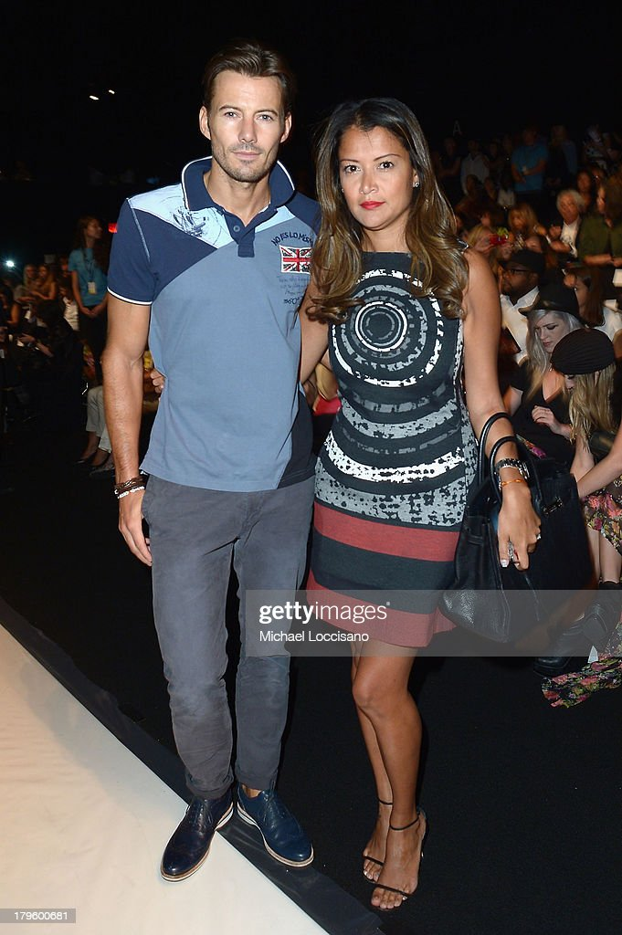 Model Alex Lundquist and Keytt Lundquist attend the Desigual Spring 2014 fashion show during Mercedes-Benz Fashion Week at The Theatre at Lincoln Center on September 5, 2013 in New York City.