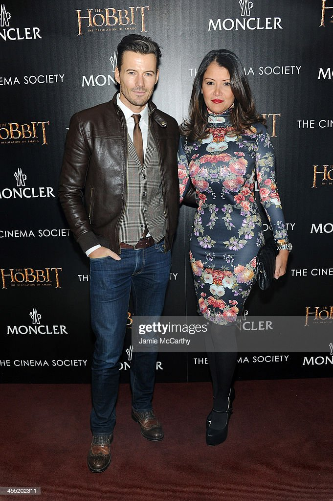 Model Alex Lundqvist and Keytt Lundqvist attend New Line Cinema and MGM Pictures' screening of 'The Hobbit: The Desolation of Smaug' hosted by the Cinema Society and Moncler on December 11, 2013 in New York City.