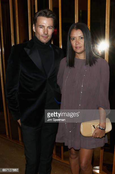 Model Alex Lundqvist and Keytt Lundqvist attend the premiere after party for 'Their Finest' hosted by STXfilms and EuropaCorp with The Cinema Society...