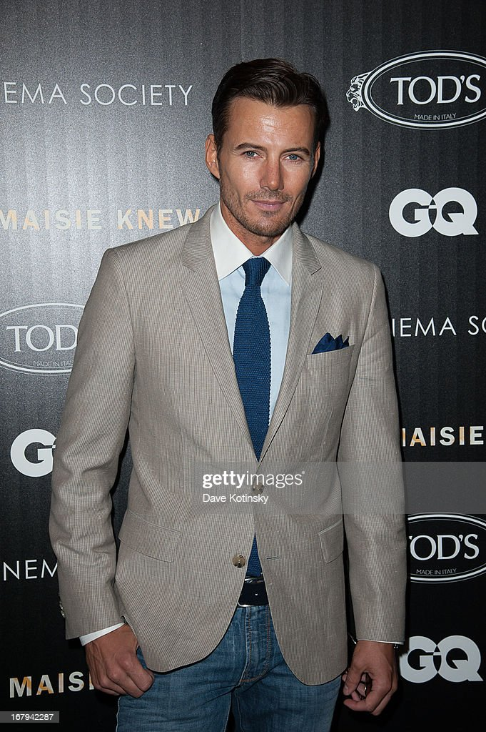 Model Alex Lundqvist attends a screening hosted by The Cinema Society With Tod's & GQ of Millennium Entertainment's 'What Maisie Knew' presented by The Cinema Society at Sunshine Landmark on May 2, 2013 in New York City.