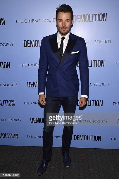 Model Alex Lundqvist attends a screening of 'Demolition' hosted by Fox Searchlight Pictures with the Cinema Society at the SVA Theater on March 21...