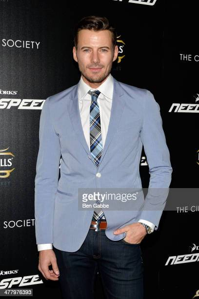 Model Alex Lundqvist attends The Cinema Society Bushmill's screening of DreamWorks Pictures' 'Need for Speed' at the Tribeca Grand Hotel on March 11...