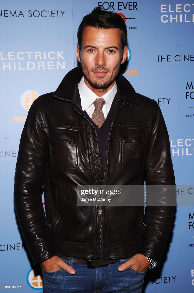 Model Alex Lundqvist attends The Cinema Society & Make Up For Ever screening of 'Electrick Children' at IFC Center on March 4, 2013 in New York City.