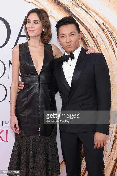 Model Alexa Chung and fashion designer Prabal Gurung attend the 2016 CFDA Fashion Awards at the Hammerstein Ballroom on June 6 2016 in New York City
