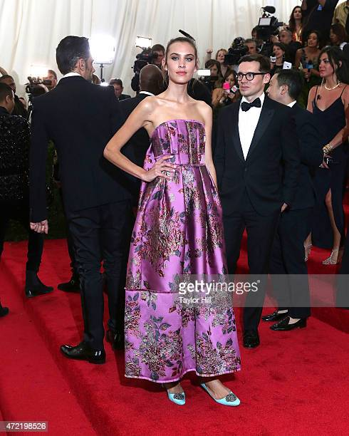 Model Alexa Chung attends 'China Through the Looking Glass' the 2015 Costume Institute Gala at Metropolitan Museum of Art on May 4 2015 in New York...