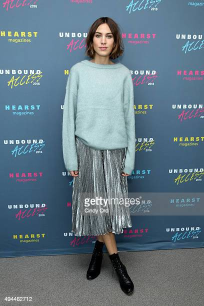 Model Alexa Chung attends Hearst Magazines MAGFRONT 2015 at Hearst Tower on October 27 2015 in New York City