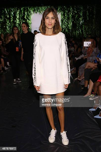 Model Alexa Chung attends Noon By Noor Spring 2016 during New York Fashion Week The Shows at The Dock Skylight at Moynihan Station on September 12...