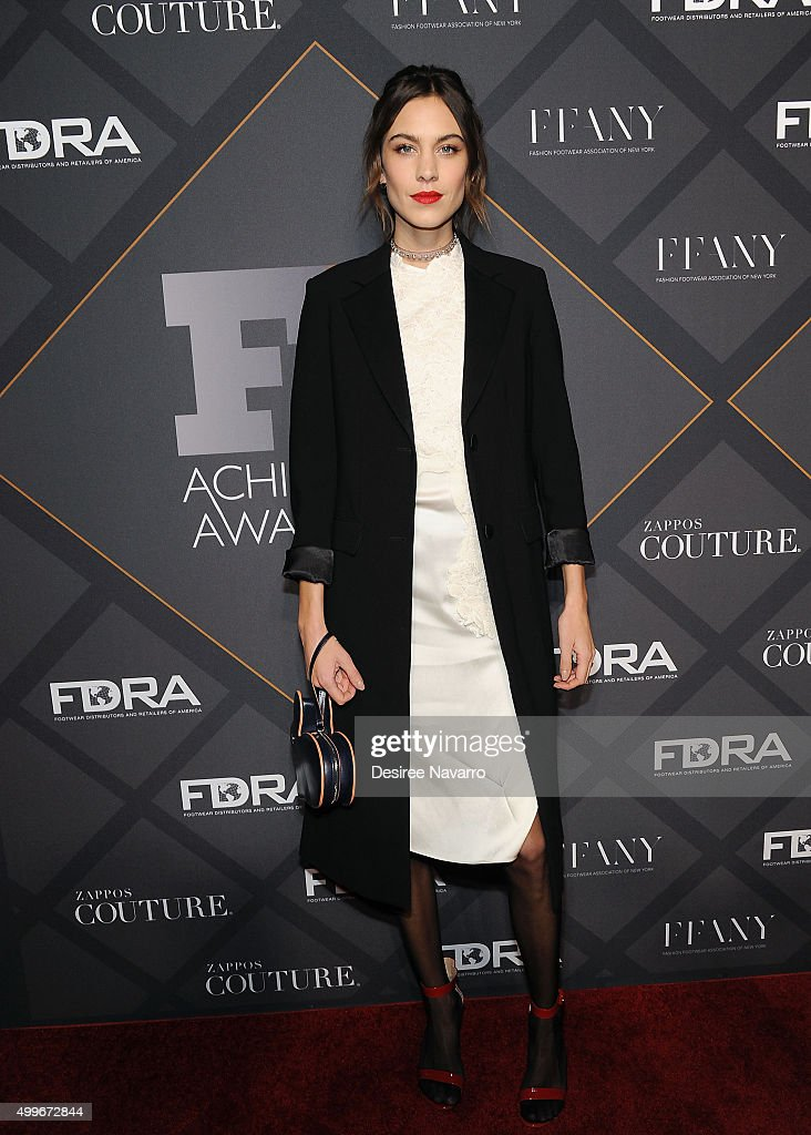 Model Alexa Chung attends the 29th FN Achievement Awards at IAC Headquarters on December 2 2015 in New York City