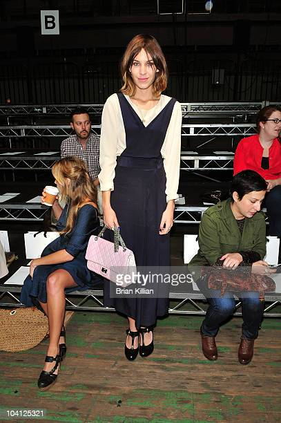 Model Alexa Chung attends the 31 Phillip Lim Spring 2011 fashion show during MercedesBenz Fashion Week at the Park Avenue Armory on September 15 2010...