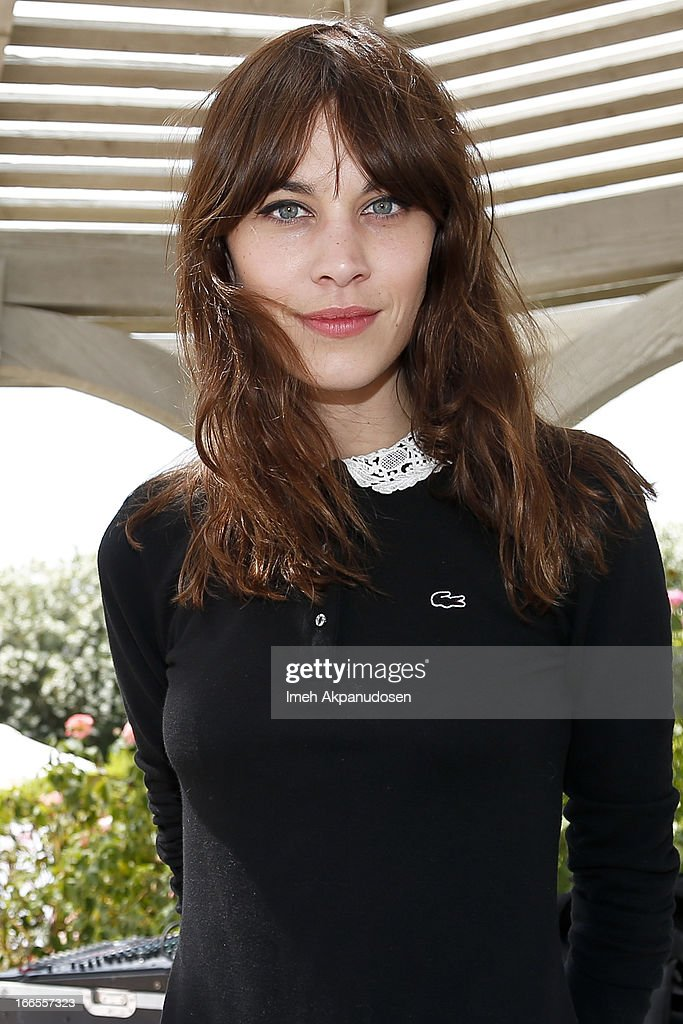 Model Alexa Chung attends the FIJI Water At Lacoste L!VE Coachella Desert Pool Party on April 13, 2013 in Palm Springs, California.