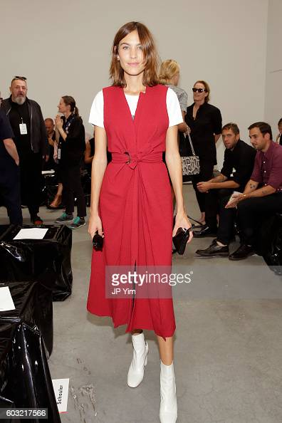 Model Alexa Chung attends the Proenza Schouler fashion show during New York Fashion Week on September 12 2016 in New York City