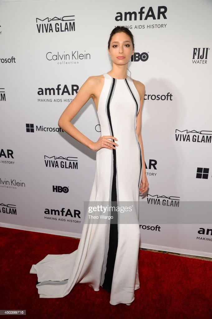 Model Alexandra Agoston attends the amfAR Inspiration Gala New York 2014 at The Plaza Hotel on June 10, 2014 in New York City.