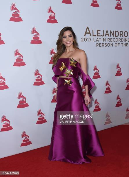 Model Alexandra Olavarria arrives for the 2017 Latin Recording Academy Person of the Year gala honoring Spanish musician Alejandro Sanz in Las Vegas...