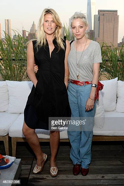 Model Alexandra Richards and blogger Cory Kennedy attend the ICB Fall Digital Campaign Launch and Summer Celebration at Azul On The Rooftop at Hotel...