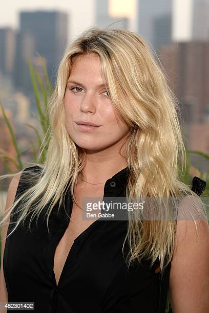 Model Alexandra Richards attends the ICB Fall Digital Campaign Launch and Summer Celebration at Azul On The Rooftop at Hotel Hugo on July 29 2015 in...
