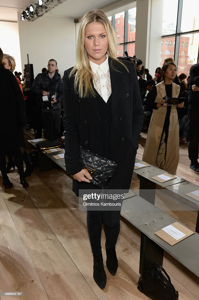 Model Alexandra Richards attends the Michael Kors fashion show during Mercedes-Benz Fashion Week Fall 2014 at Spring Studios on February 12, 2014 in New York City.