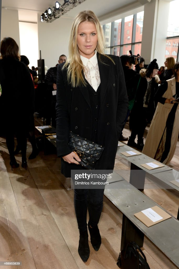 Model <a gi-track='captionPersonalityLinkClicked' href=/galleries/search?phrase=Alexandra+Richards&family=editorial&specificpeople=213455 ng-click='$event.stopPropagation()'>Alexandra Richards</a> attends the Michael Kors fashion show during Mercedes-Benz Fashion Week Fall 2014 at Spring Studios on February 12, 2014 in New York City.