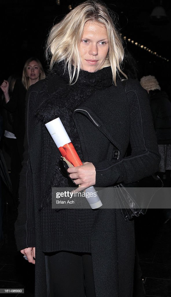 Model Alexandra Richards attends the Theyskens' Theory fall 2013 fashion show during Mercedes-Benz Fashion Week at Skylight Studios at Moynihan Station on February 11, 2013 in New York City.