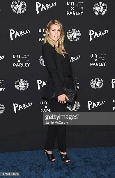 Model Alexandra Richards attends the United Nations x Parley For The Oceans Launch Event at the United Nations General Assembly Hall on June 29 2015...