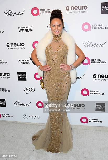 Model Alexandra Snow attends the 23rd Annual Elton John AIDS Foundation's Oscar Viewing Party on February 22 2015 in West Hollywood California
