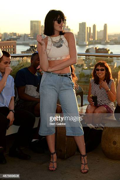 Model Ali Lohan attends the Ranbeeri Denim Launch Party Hosted By Ali Lohan at Jimmy At The James Hotel on August 4 2015 in New York City