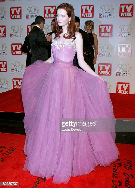 Model Alice Burdeau arrives on the red carpet at the 50th Annual TV Week Logie Awards at the Crown Towers Hotel and Casino on May 4 2008 in Melbourne...