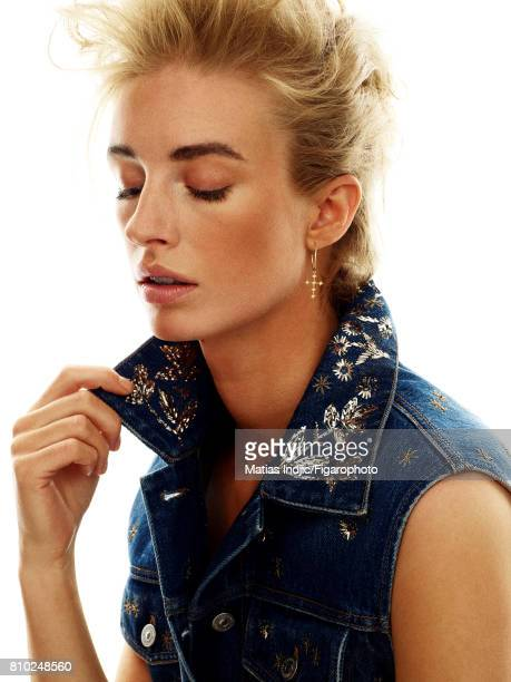 Model poses as George Michael at a fashion shoot for Madame Figaro on May 10 2017 in Paris France Vest earring PUBLISHED IMAGE CREDIT MUST READ...