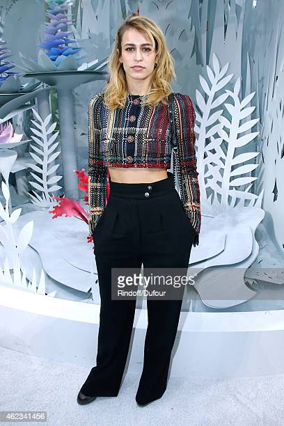 Model Alice Dellal attends the Chanel show as part of Paris Fashion Week Haute Couture Spring/Summer 2015 on January 27 2015 in Paris France