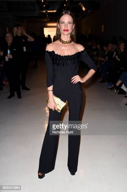 Model Alicia Rountree attends the Chiara Boni La Petite Robe collection during New York Fashion Week The Shows at Gallery 3 Skylight Clarkson Sq on...