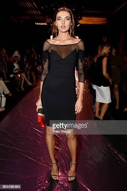 Model Alicia Rountree attends the Chiara Boni La Petite Robe fashion show during New York Fashion Week The Shows at The Dock Skylight at Moynihan...