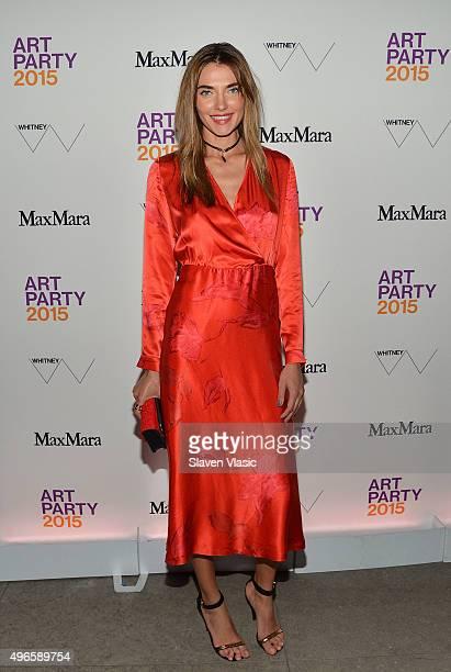 Model Alina Baikova attends 2015 Whitney Art Party at 99 Gansevoort on November 10 2015 in New York City