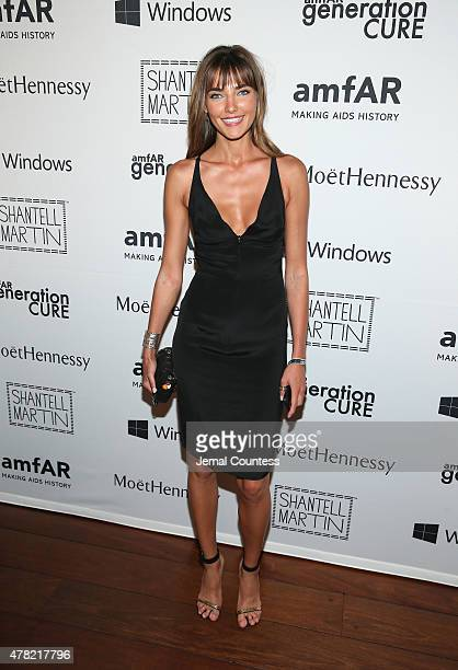 Model Alina Baikova attends 4th Annual Solstice Presented By amfAR's generationCURE at Hudson Hotel on June 23 2015 in New York City
